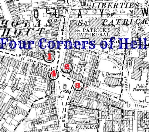 Illustration of The Four Corners of Hell. Credit - Sam (CHTM!)